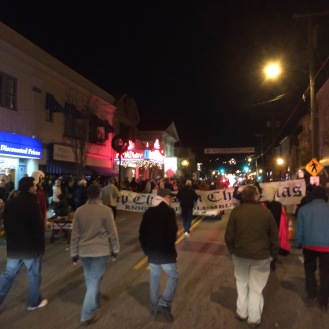 Marching into downtown Pitman.