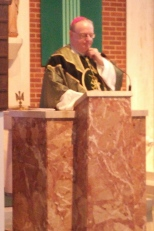 Bishop Sullivan offers the homily.