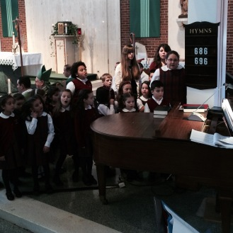 The Saint Bridget Parish Children's Choir.