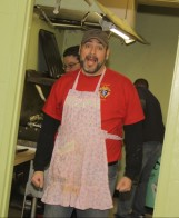"Our Worthy Chancellor sporting the ""Chancellor's Apron."""