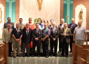 All of our Brother Knights in attendance for the installation.