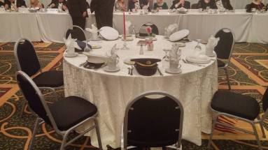 At the gala a table is kept empty for all men and women who gave their lives in service to their country.